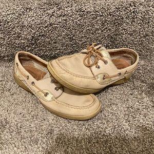 Tan Sperry Boatshoes